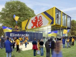 Das Eintracht-Fanhaus: Illustration...