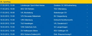 Noch Freitagabend stand auf eintracht.com die alte Paarung BSV Kickers Emden gegen Eintracht Braunschweig II
