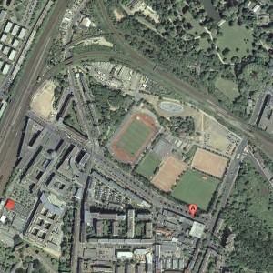 Stadionsuche Teil 5: Wo sind wir? Quelle: Google Maps