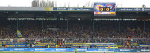 Blaugelbe Wand bei Eintracht Braunschweig